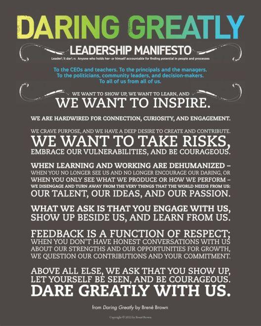 leadership manifesto